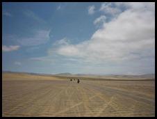 Cielo y arena.