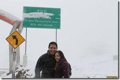 El Pichi y Andrealé a 4818 msnm.