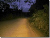 Caminos donde no quisieran estar de noche.