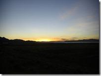 El astro rey ocultándose detrás del Lago Titicaca.