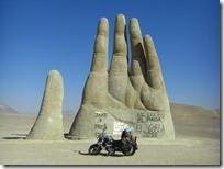 En medio del desierto.