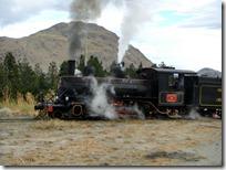 El famoso trencito de Esquel: La Trochita. Yo le sacaba fotos y el tren me sacaba fotos a mí.