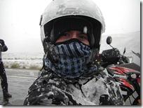 Efecto iglú. Bien protegido del frío.