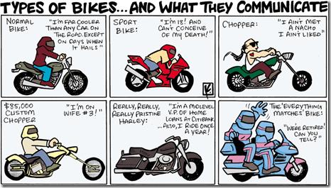 Tipos de Motos... y lo que dicen de ti.