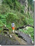 Bajando al cruce a la Isla San Martín