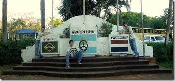 La Triple Frontera en Puerto Iguazú.