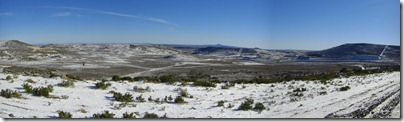 Paisajes nevados saliendo de Sarmiento