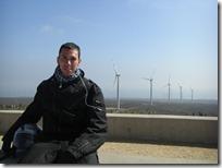 En el mirador de uno de los parque eólicos