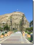 El Morro de Arica desde la plaza central