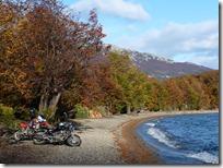 A orillas del Lago Roca.