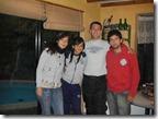 Con Dani, Cami y Felipe