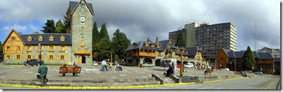Plaza central de Bariloche