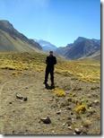 Al fondo el imponente Aconcagua